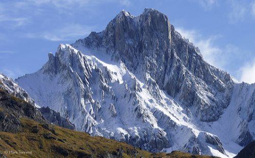 Snow-covered La Dent Parrachee