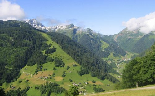 View of the Beaufortain at Areches
