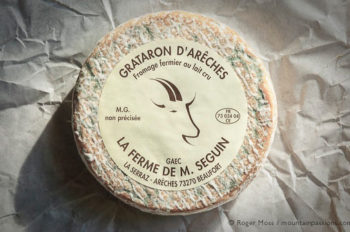 Grataron d'Arêches cheese
