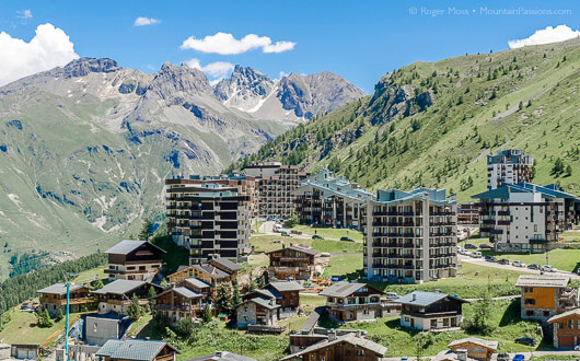 Tignes le Lavachet, summer general view
