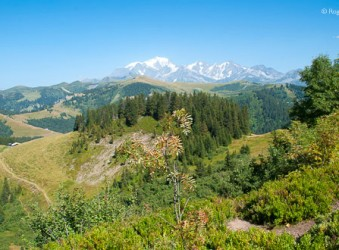 General view from Les Saisies to Mont Blanc