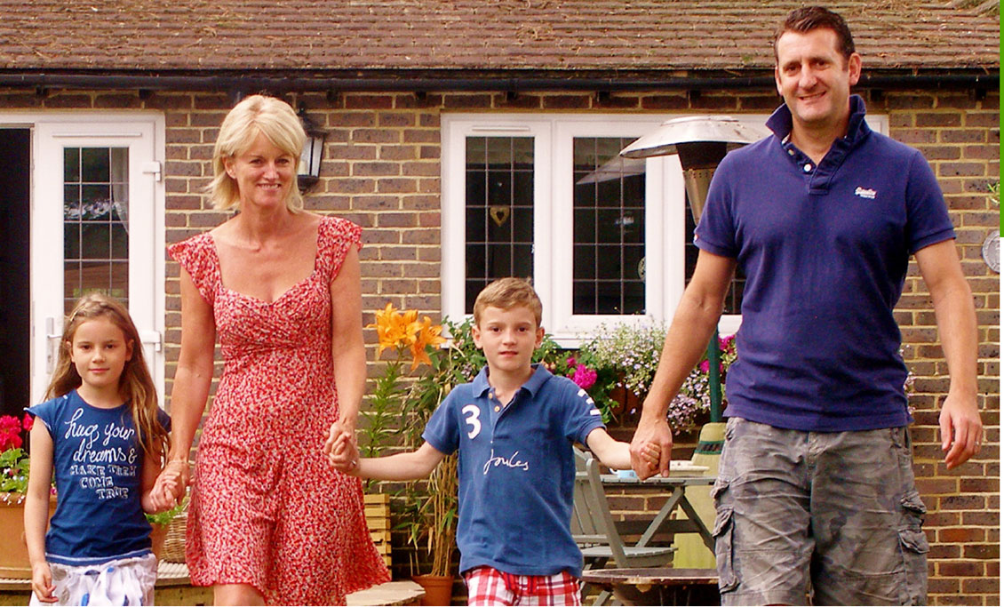 The Andrews family, French property owners