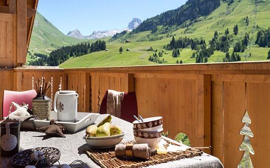 View from balcony, Village de Lessy, Le Grand Bornand