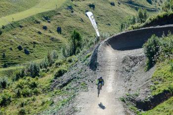 Mountain biker in Châtel, Portes du Soleil