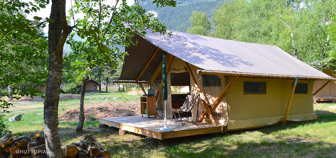 Trapper's tent by Huttopia, Bourg Saint Maurice, French Alps