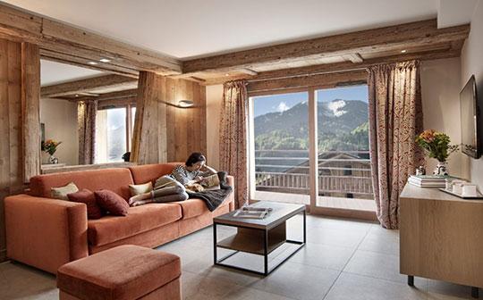 Interior view Alexane Apartments, Samoens, French Alps