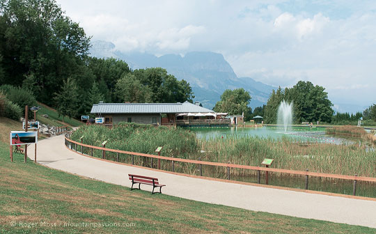 Eco-lake at Combloux, French Alps